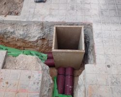 obra civil canalización